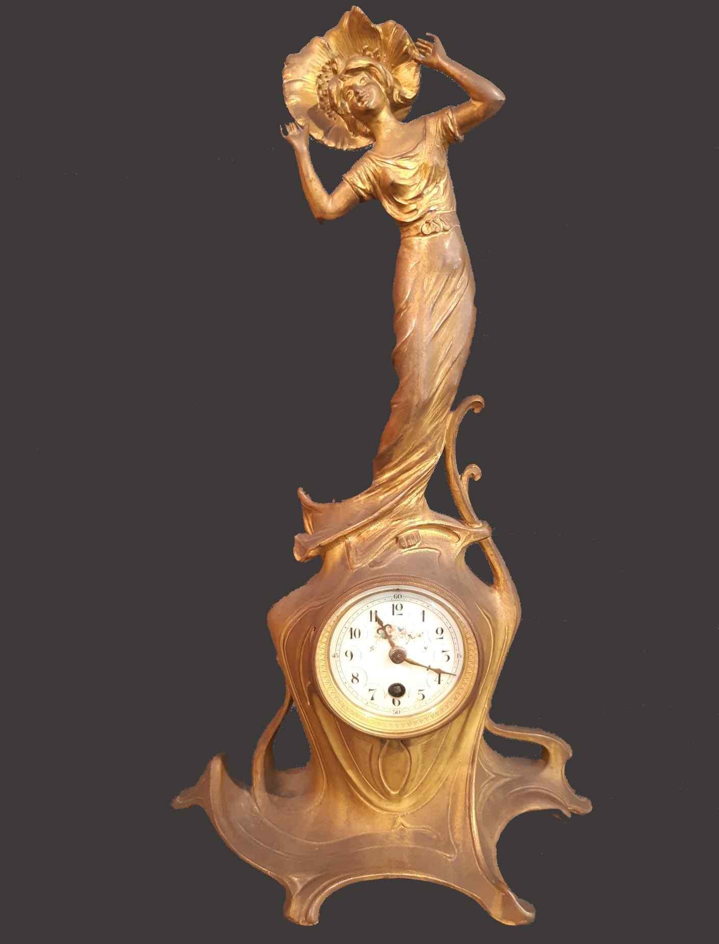 Antique liberty gilt bronze clock