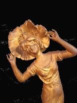 Antique liberty gilt bronze clock-1