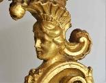 Antico Gueridon del XVIII secolo -dorato e scolpito-0