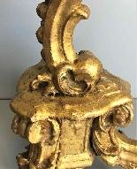 Antico Gueridon del XVIII secolo -dorato e scolpito-6