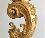 Antico Gueridon del XVIII secolo -dorato e scolpito-7