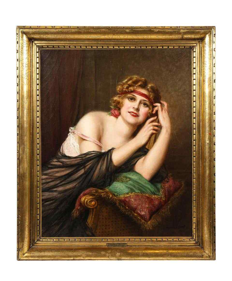 Francois Martin Kavel (Francese, 1861-1931) Ritratto di Ele