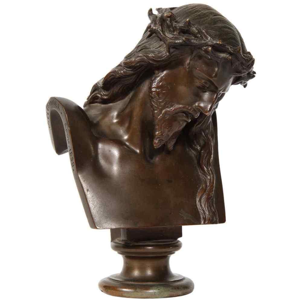Jean-Baptiste Auguste Clesinger, busto di Gesù in bronzo fra