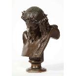 Jean-Baptiste Auguste Clesinger, busto di Gesù in bronzo fra-11