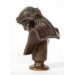 Jean-Baptiste Auguste Clesinger, busto di Gesù in bronzo fra-6