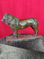 After Rembrandt Bugatti (1884-1916) Nubian Lion in Bronze-0