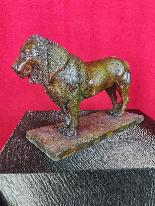After Rembrandt Bugatti (1884-1916) Nubian Lion in Bronze-5
