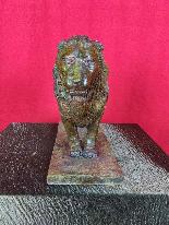 After Rembrandt Bugatti (1884-1916) Nubian Lion in Bronze-6