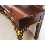 Antique Mahogany and Gilt Serving Table Sideboard 19th C-14