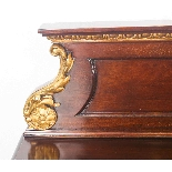 Antique Mahogany and Gilt Serving Table Sideboard 19th C-1