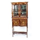 Antique Edwardian Inlaid Display Cabinet, Edwards & Roberts-12