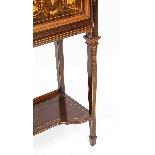 Antique Edwardian Inlaid Display Cabinet, Edwards & Roberts-15