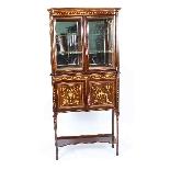 Antique Edwardian Inlaid Display Cabinet, Edwards & Roberts-13