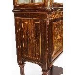 Antique Edwardian Inlaid Display Cabinet, Edwards & Roberts-16