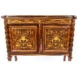 Antique Edwardian Inlaid Display Cabinet, Edwards & Roberts-3