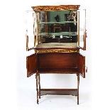 Antique Edwardian Inlaid Display Cabinet, Edwards & Roberts-8