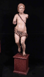 Large Sculpture: Polychrome Putto, 17th century-0