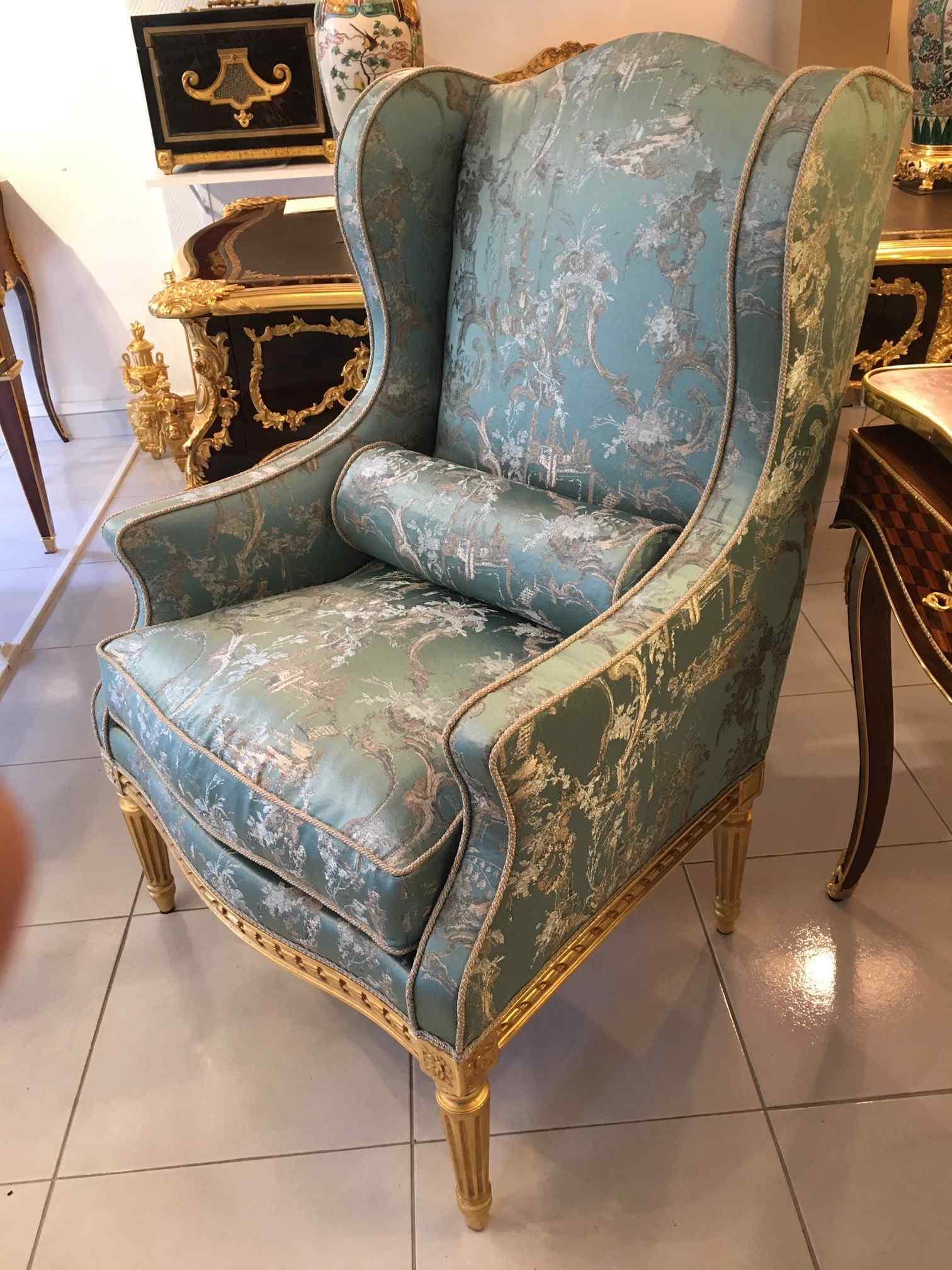 Louis XVI wing chair