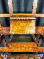 20th Century Art Nouveau Oak Coat Rack-0