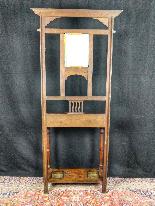 20th Century Art Nouveau Oak Coat Rack-1