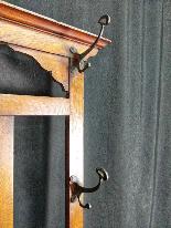 20th Century Art Nouveau Oak Coat Rack-3