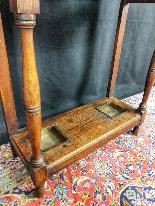 20th Century Art Nouveau Oak Coat Rack-4