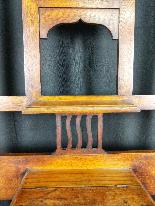 20th Century Art Nouveau Oak Coat Rack-5