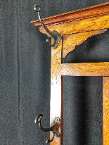 20th Century Art Nouveau Oak Coat Rack-6