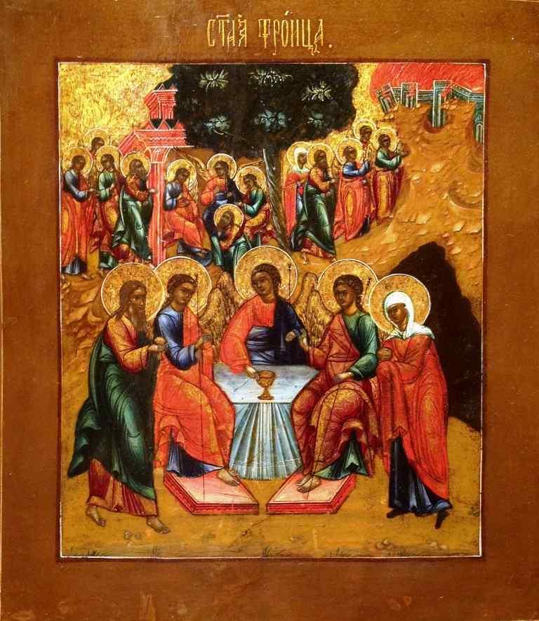 Antica Icona Russa - Trinità del Vecchio Testamento