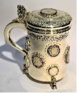Silver tankard with Austro-Hungarian Empire coins.-2