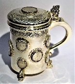 Silver tankard with Austro-Hungarian Empire coins.-1