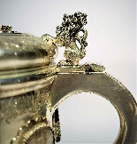 Silver tankard with Austro-Hungarian Empire coins.-5