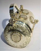 Silver tankard with Austro-Hungarian Empire coins.-4