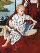 Virgin and Child 16th Follower of Roger Van der Weyden-1