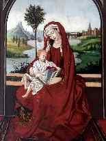 Madonna col Bambino XVI seguace di Roger Van der Weyden-2