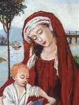 Virgin and Child 16th Follower of Roger Van der Weyden-3