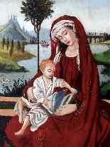 Virgin and Child 16th Follower of Roger Van der Weyden-10
