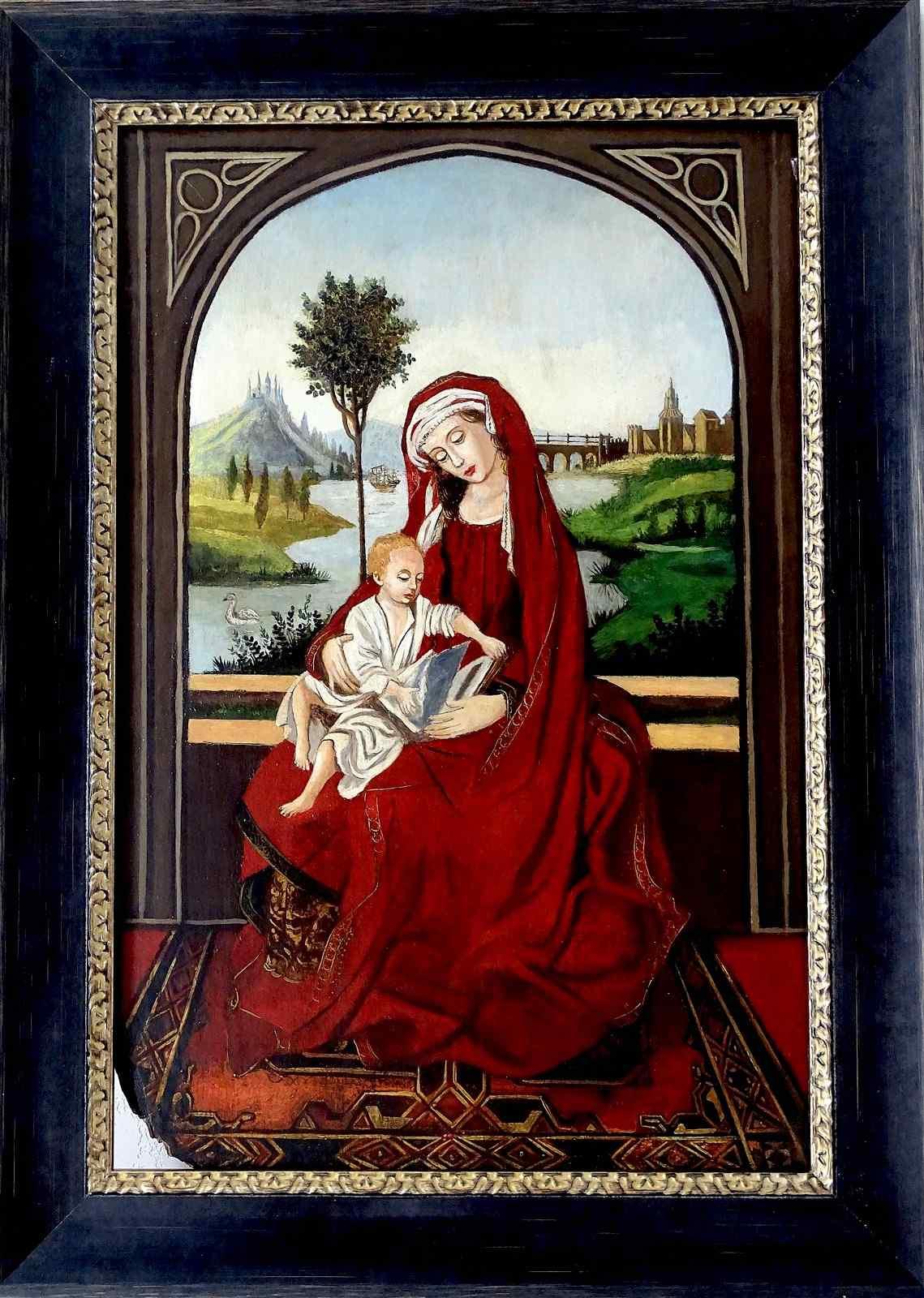 Madonna col Bambino XVI seguace di Roger Van der Weyden