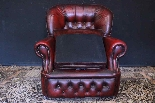 Coppia poltrone Chesterfield bergere in pelle bordeaux-2