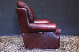 Coppia poltrone Chesterfield bergere in pelle bordeaux-9