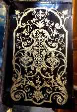 Large violin applique cartel in Boulle marquetry-5