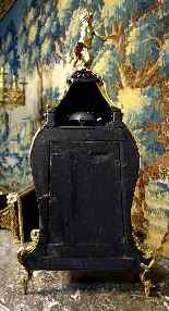 Large violin applique cartel in Boulle marquetry-9
