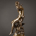 Charming Pair Of Mythological French Bronze Sculptures-5