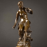 Charming Pair Of Mythological French Bronze Sculptures-3