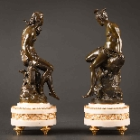 Charming Pair Of Mythological French Bronze Sculptures-6