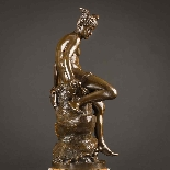 Charming Pair Of Mythological French Bronze Sculptures-4
