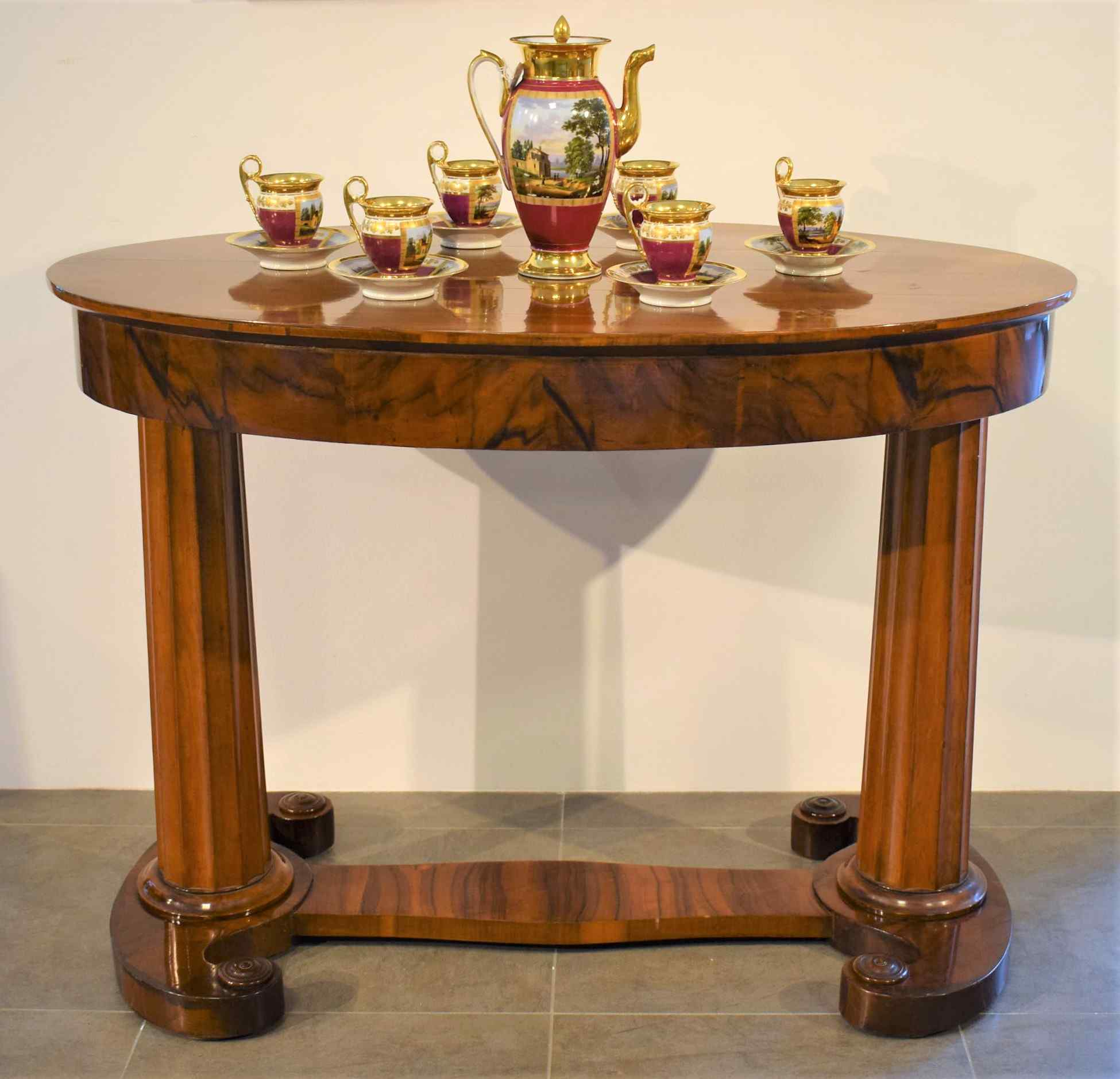 Biedermeier coffee table / desk by Josef Danhauser
