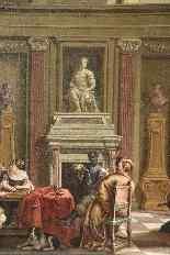 Antico dipinto del XVII secolo scuola olandese-2