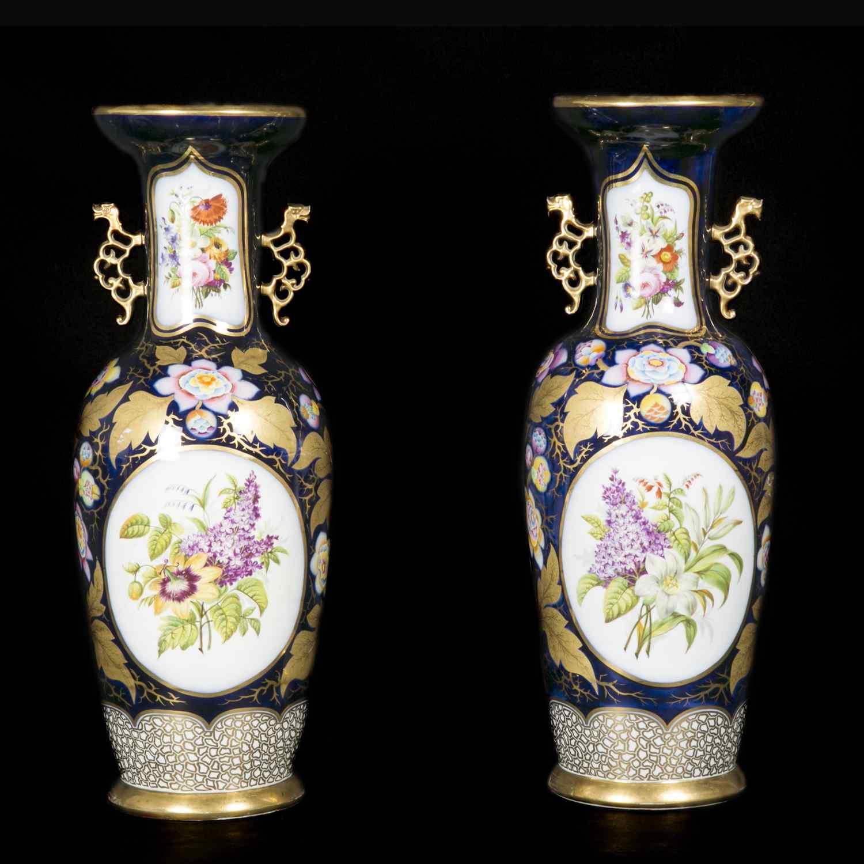 Paire de vases en porcelaine, XIXe