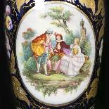 Paire de vases en porcelaine, XIXe-5